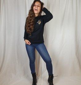 Azuka Zwarte hoodie Azuka brave at heart