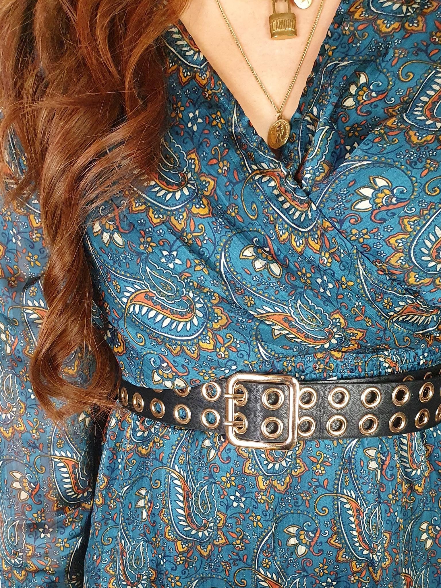 Ladybugs Oakley dress PETROL
