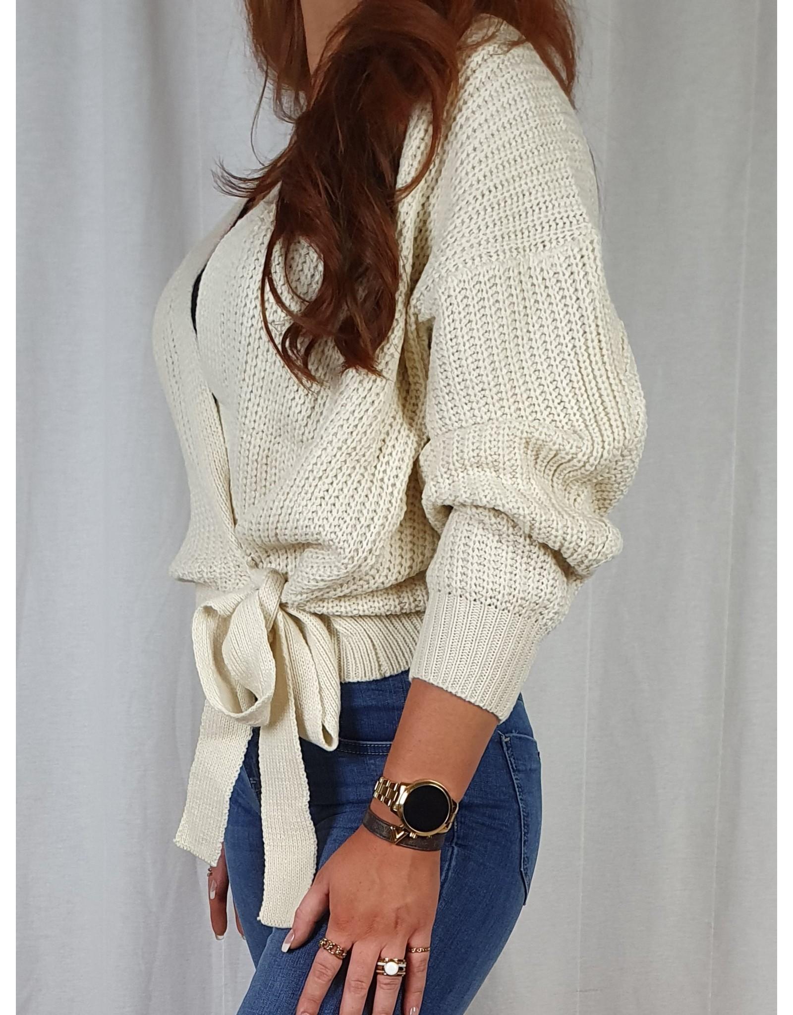 Ladybugs Lynn wrap knit IVOOR