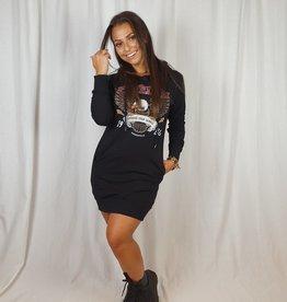 Azuka Zwarte hoodie dress van Azuka Freedom