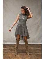 Moost Wanted Aparte jurk met tule in army groen