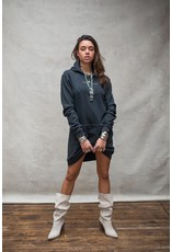 Moost Wanted Eagle hoodie dress STONE GREY