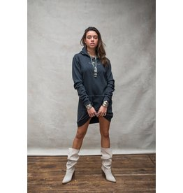 Moost Wanted Eagle hoodie dress STONE GREY