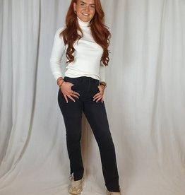 Ladybugs 838 - 2 Straight jeans met split Queen Hearts BLACK