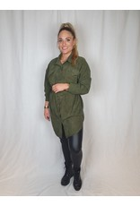 Ladybugs Pien corduroy dress ARMY GREEN
