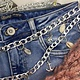 Ladybugs Chain belt shells SILVER