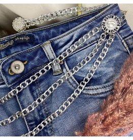 Ladybugs Chain belt SILVER