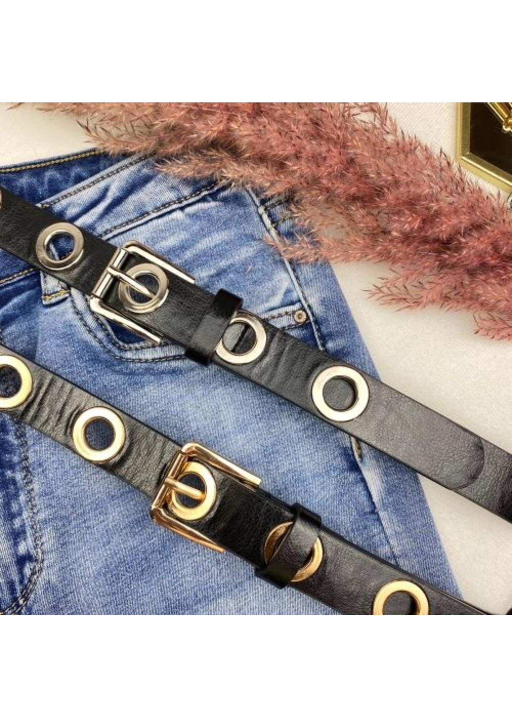 Ladybugs Holes belt GOLD