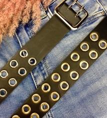 Ladybugs Dubbel holes belt ZILVER