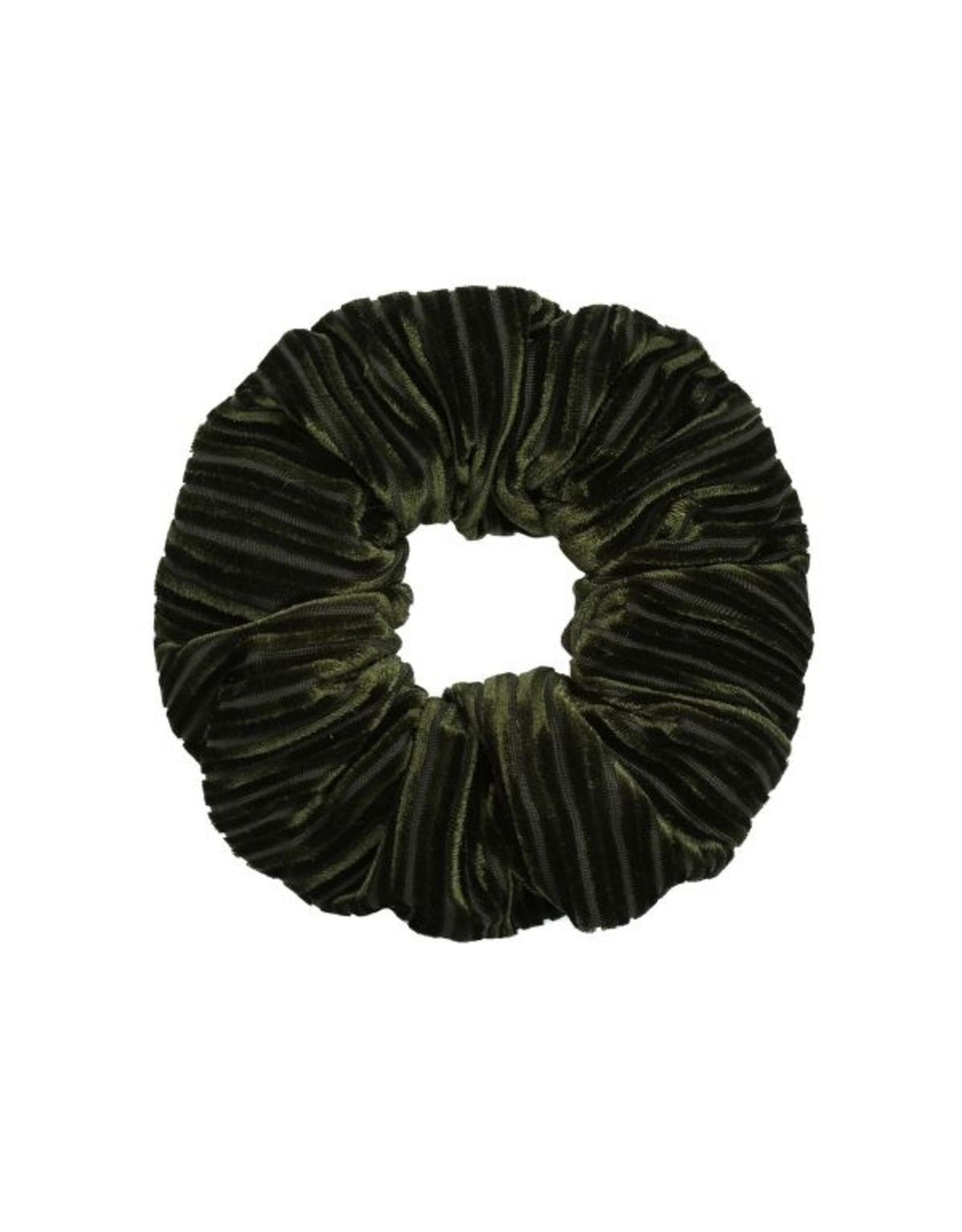 Ladybugs Scrunchie crushed velvet ARMY GREEN