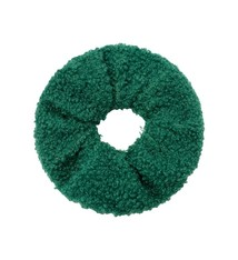 Ladybugs Scrunchie soft teddy GREEN