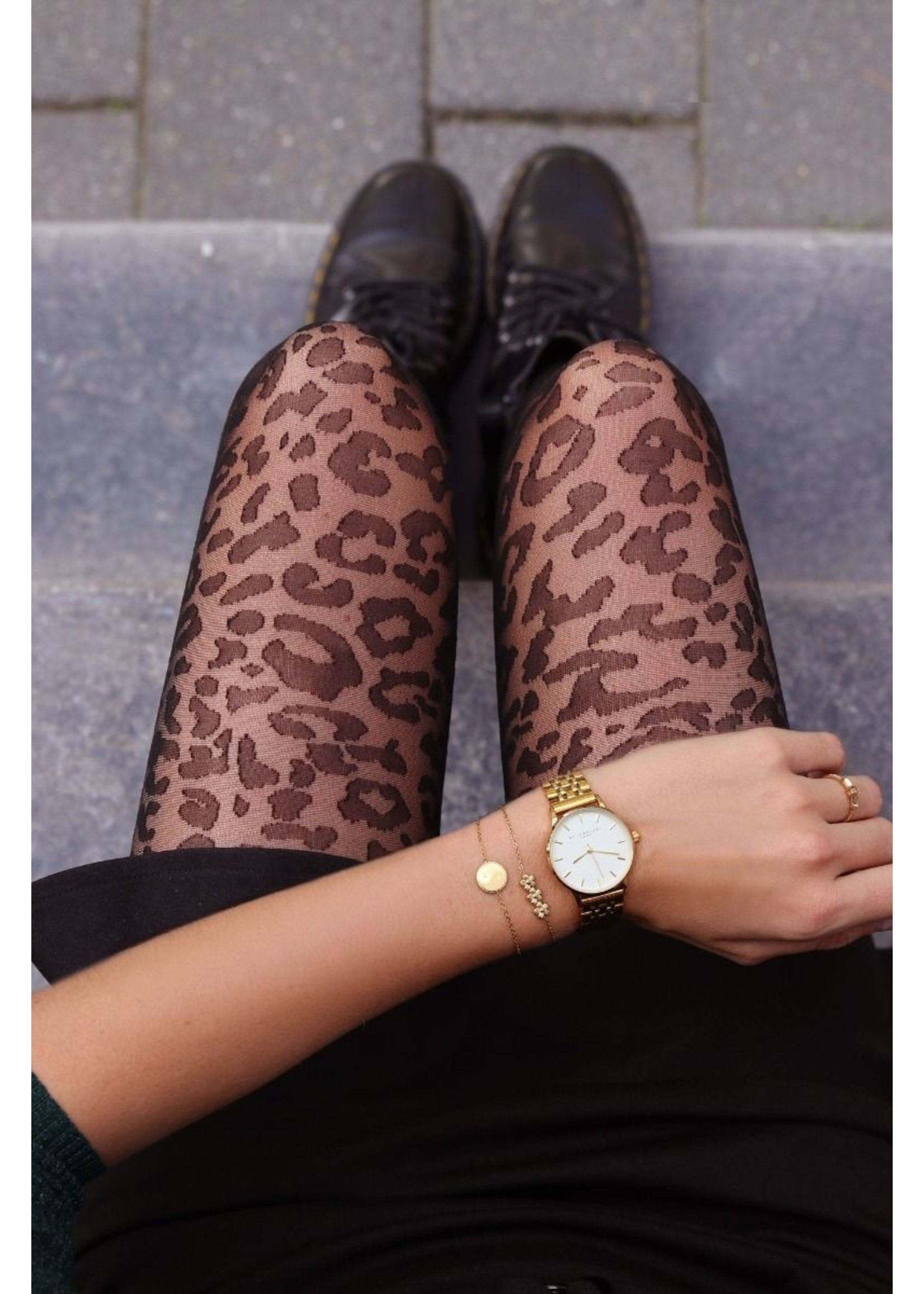 Ladybugs High waist shaping tights LEOPARD 20den. MY JEWELLERY