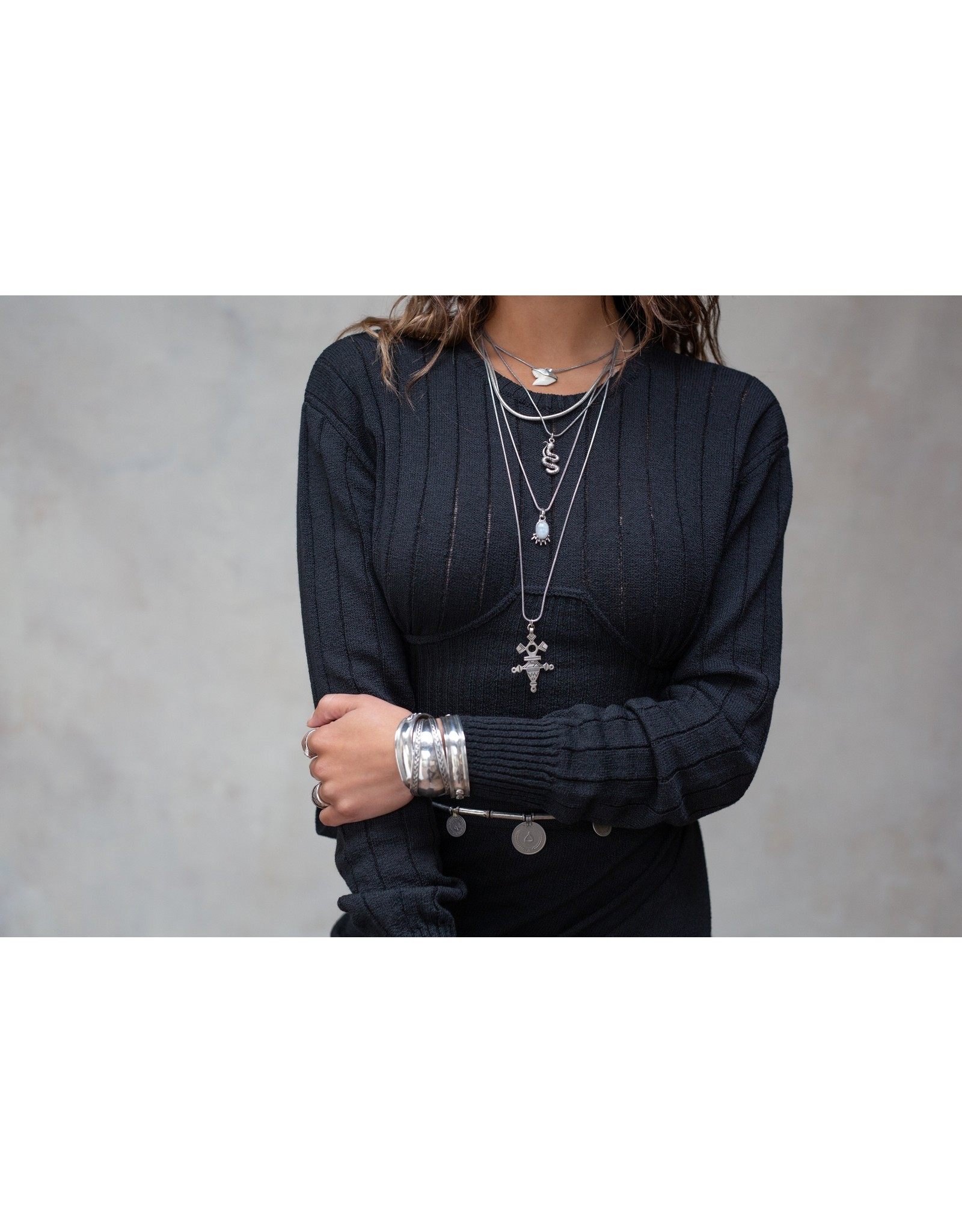 Moost Wanted Lois knitted top BLACK