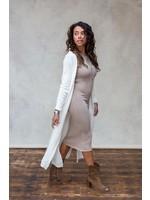 Moost Wanted Gebreide vest Ayla gebroken wit