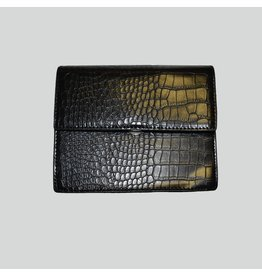 Pinned by K Square bag BLACK CROCO
