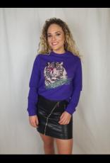 Pinned by K Sweater tiger rebel PURPLE