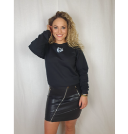Pinned by K Oversized sweater TIGER BLACK