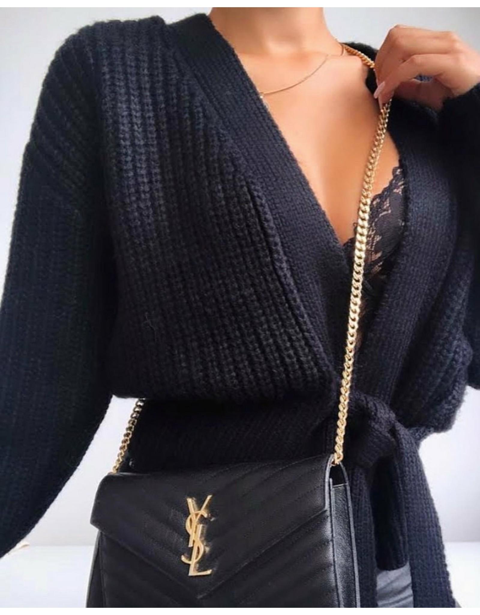 Ladybugs Lynn wrap knit BLACK