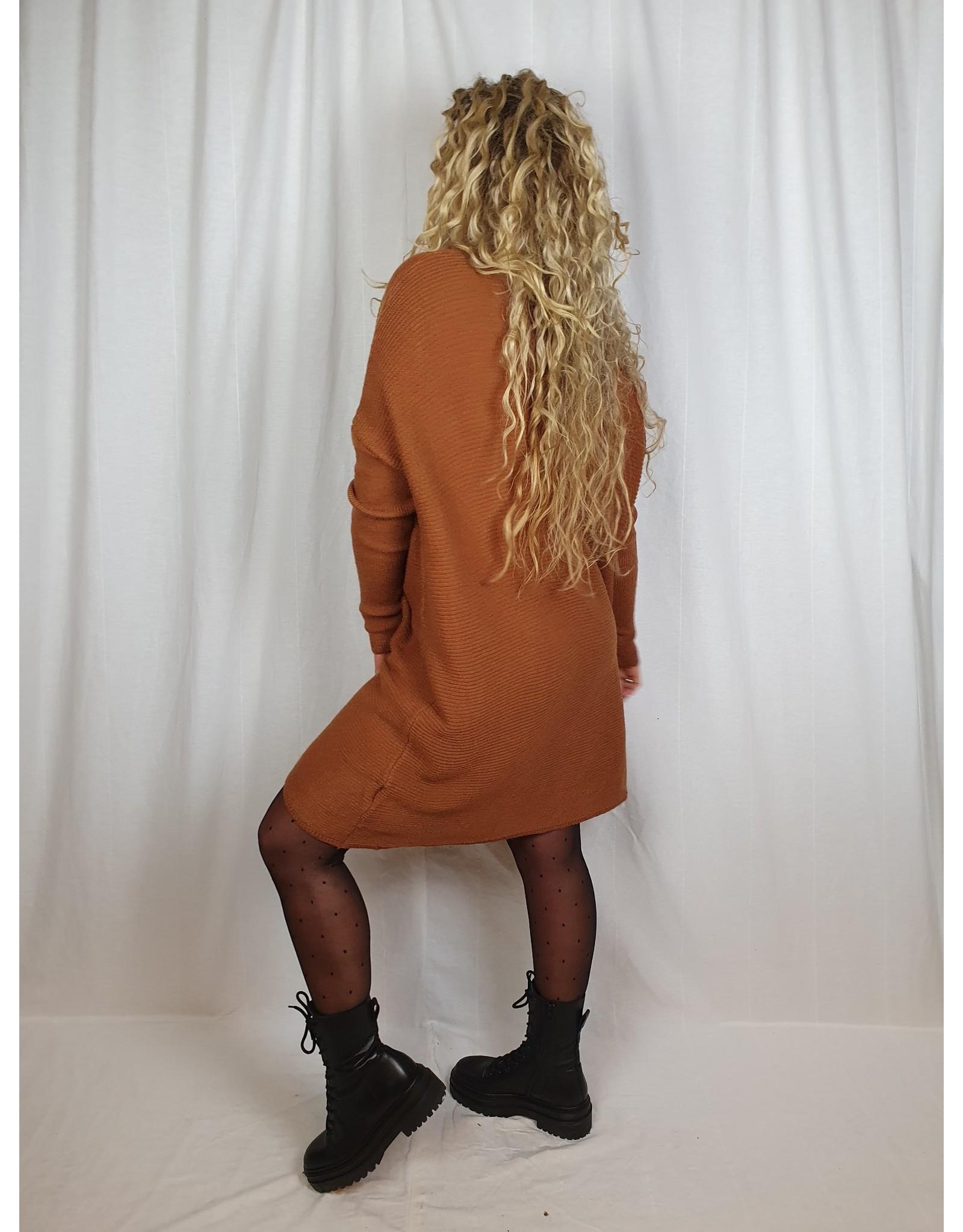 Ladybugs Indy LONG ribbed sweater dress BRICK