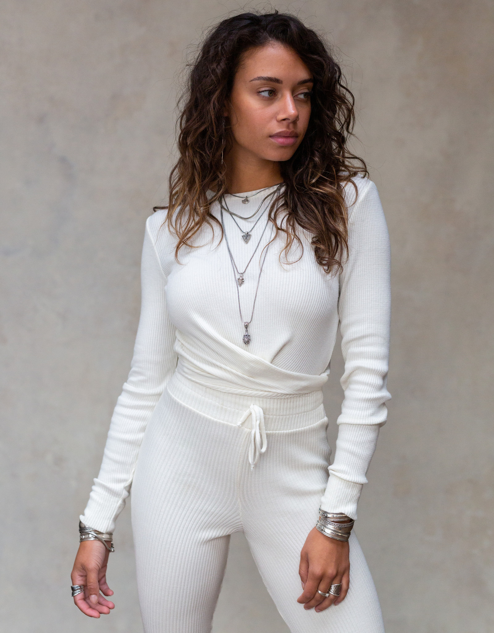 Moost Wanted Fierce knitted top OFF WHITE