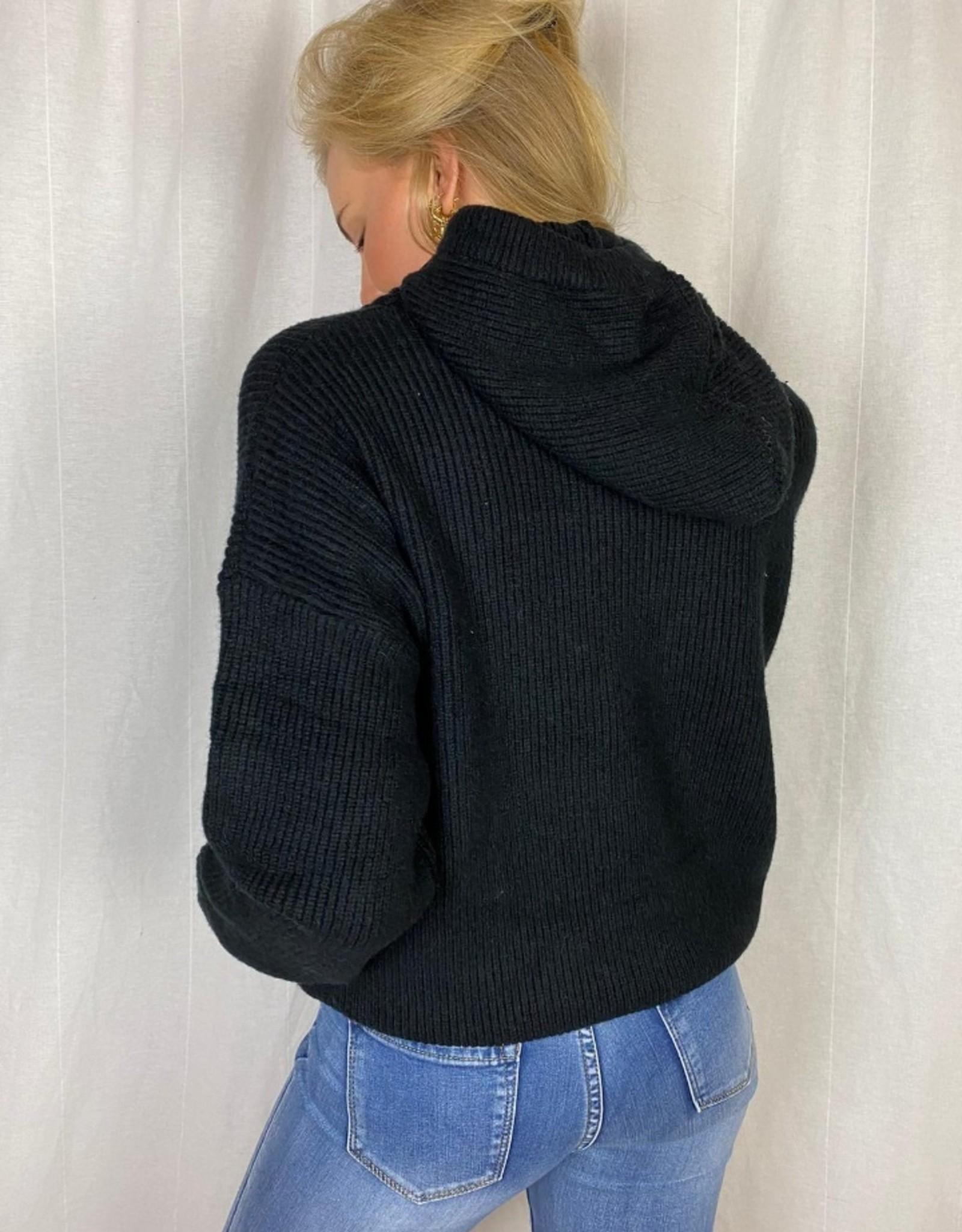 Ladybugs Gebreide zwarte hoodie