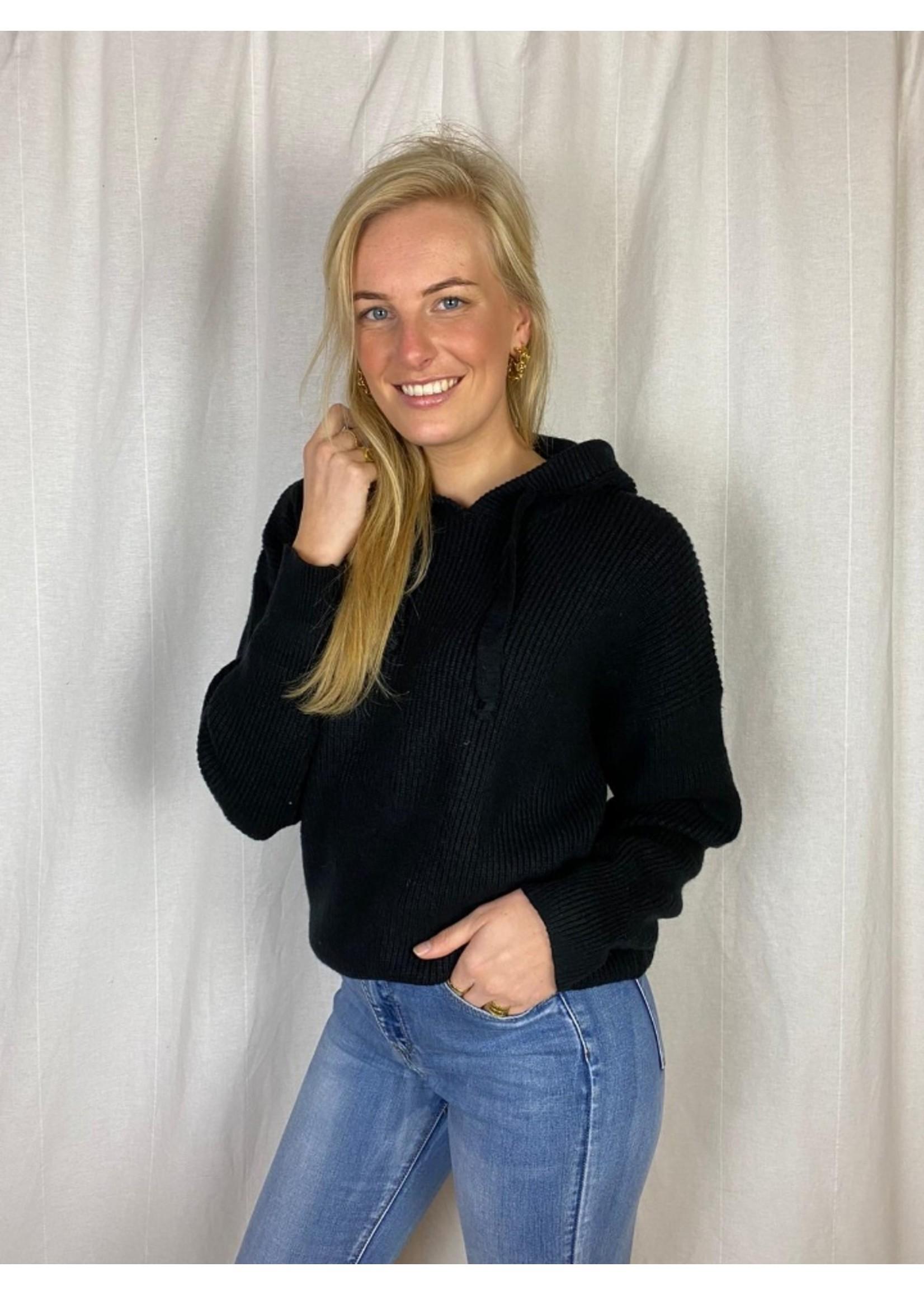 Ladybugs Gebreide zwarte hoodie Jill