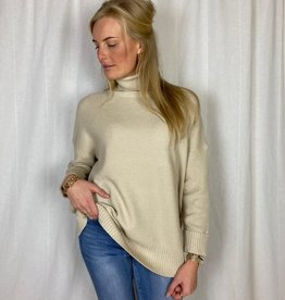 Ladybugs Col trui in luxe kwaliteit oversized pasvorm Arom beige