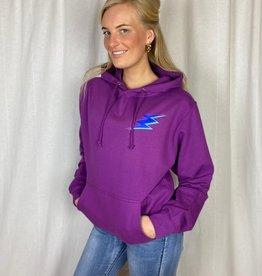Pinned by K Comfortabele bliksem hoodie paars
