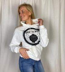 Pinned by K Witte hoodie opdruk Rock 'n roll