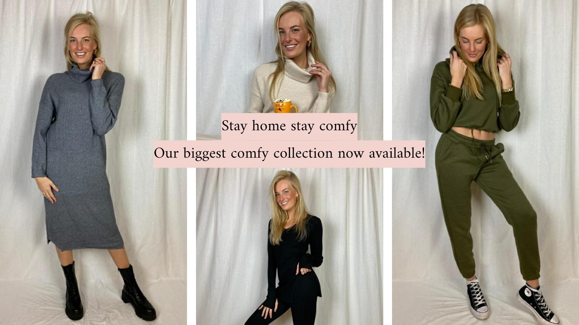 Comfortabele outfitjes ideaal voor deze tijd. Fashionable at home!