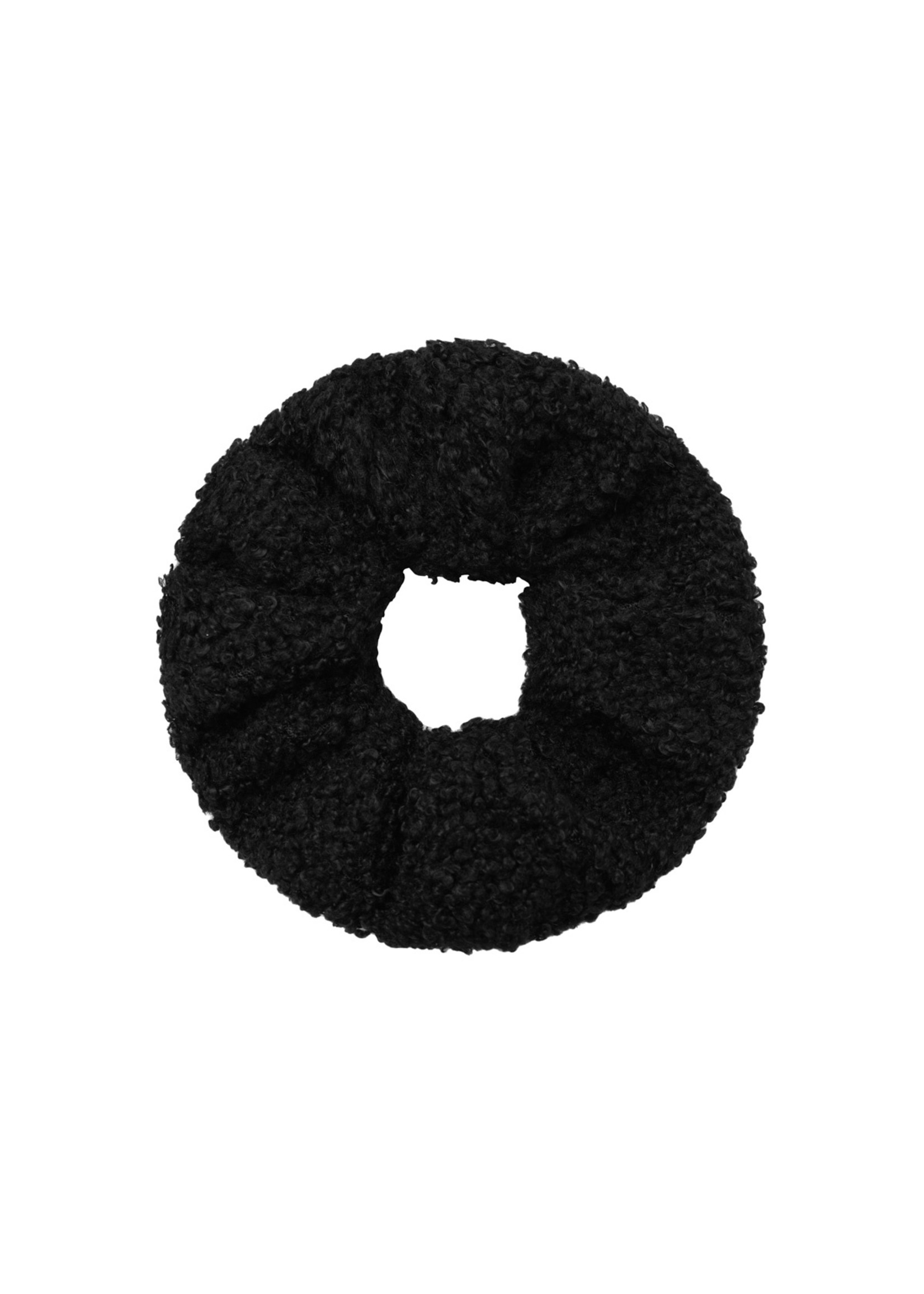 Ladybugs Scrunchie soft teddy BLACK