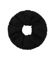 Ladybugs Scrunchie soft teddy BLACK