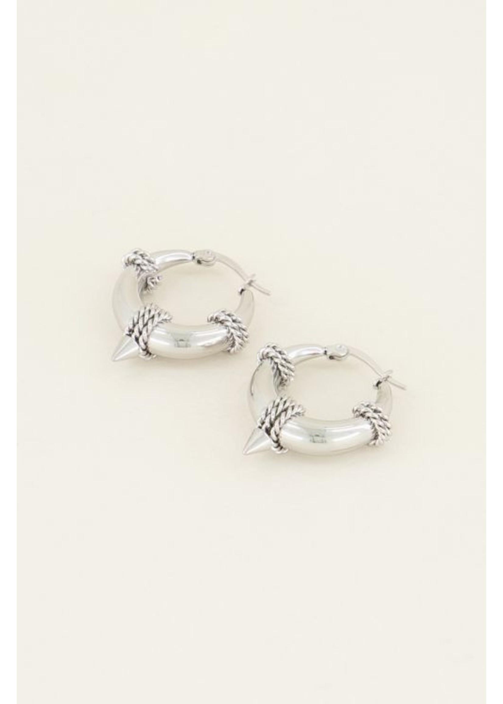 My Jewellery Oorringen ronde schakel zilver