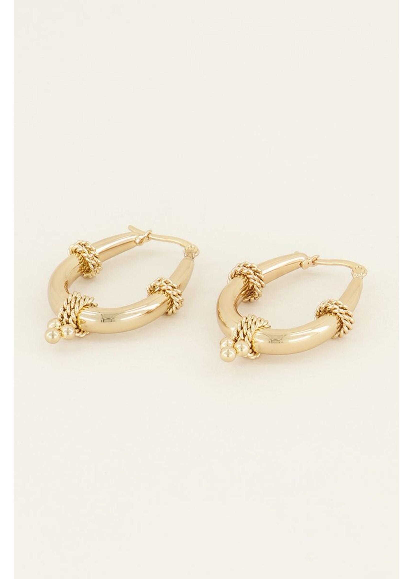 My Jewellery Oorringen ovale schakel goud