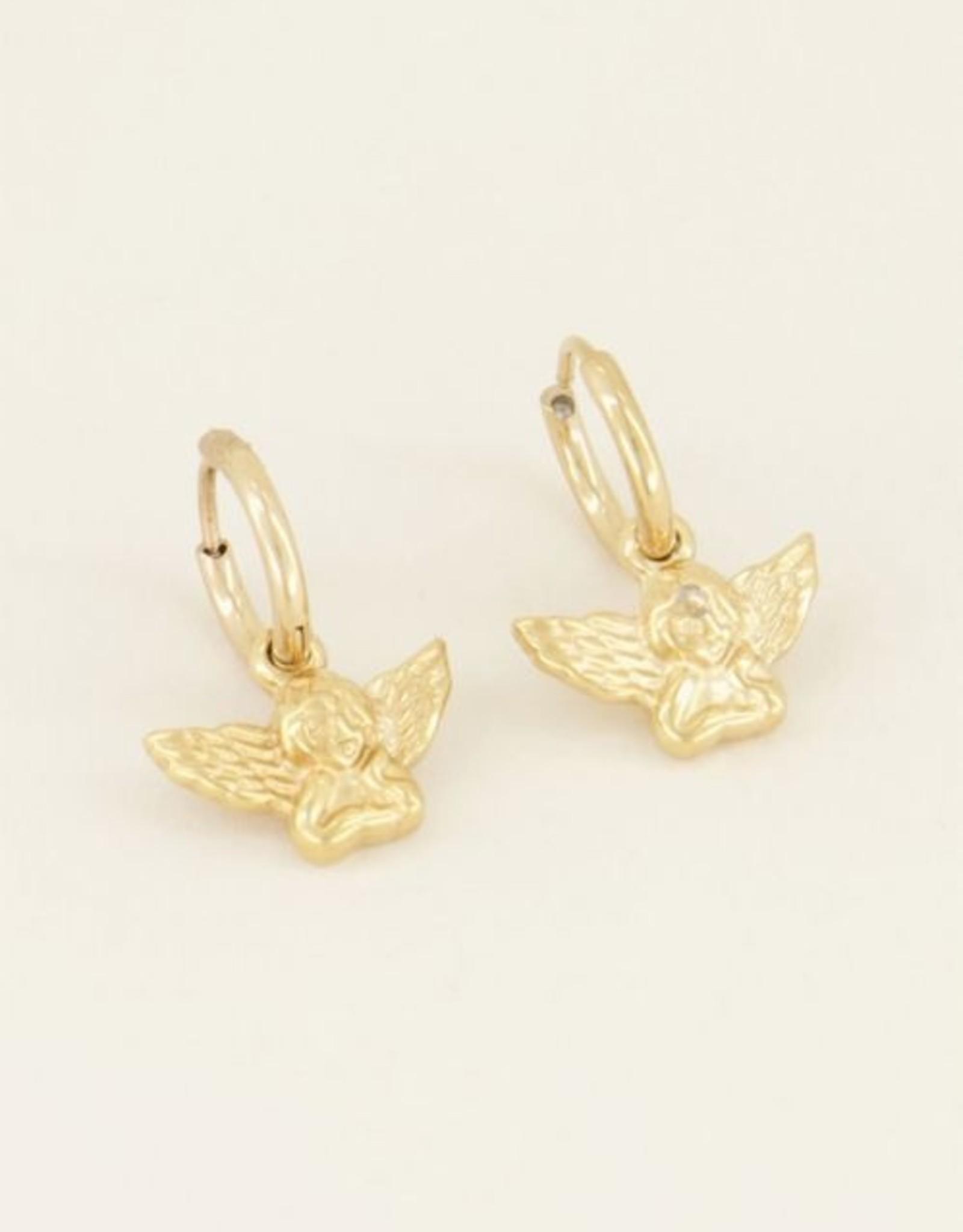 My Jewellery Oorbellen engeltje goud