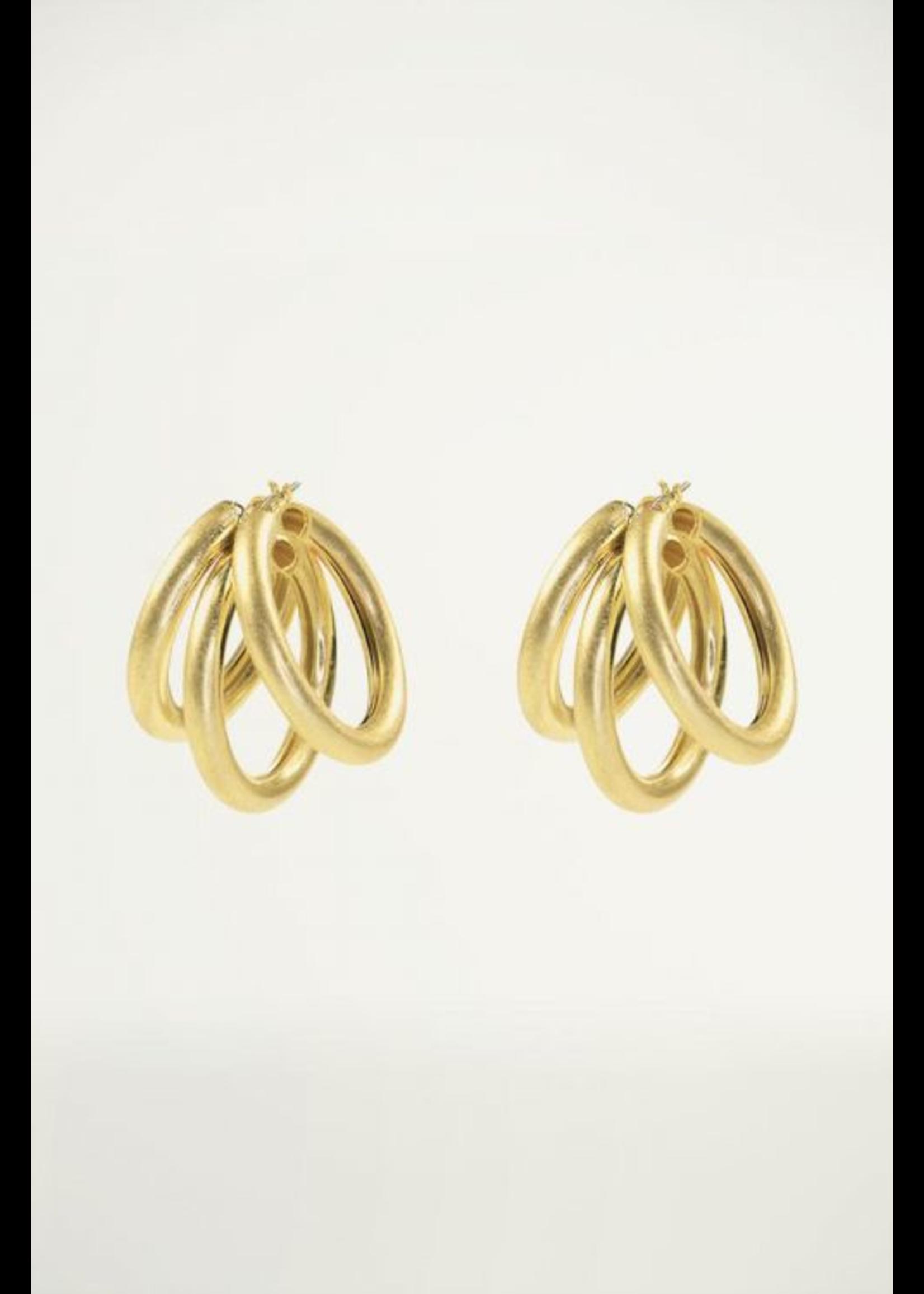 My Jewellery Oorringen triple mat goud