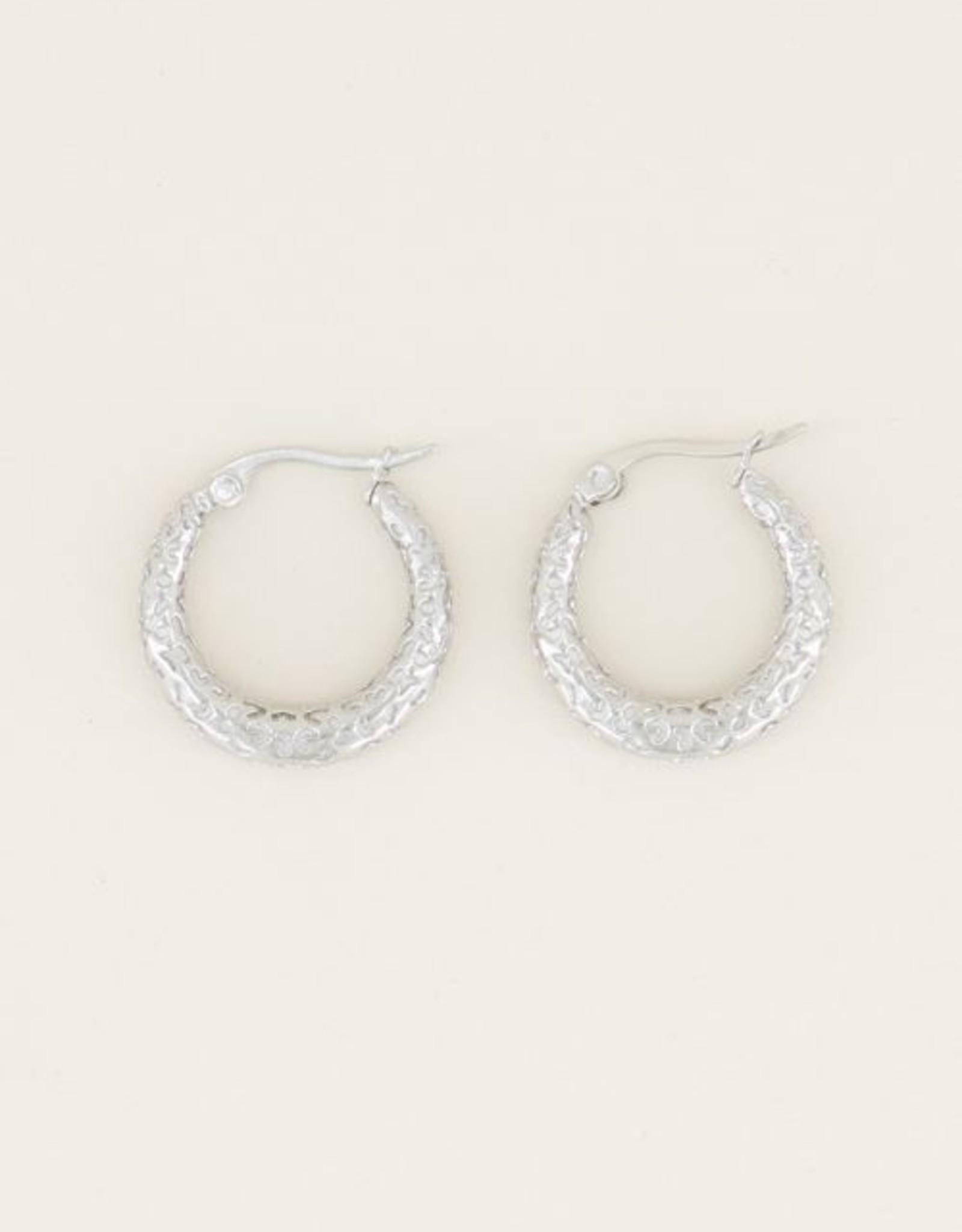 My Jewellery Kleine oorringen patroon zilver