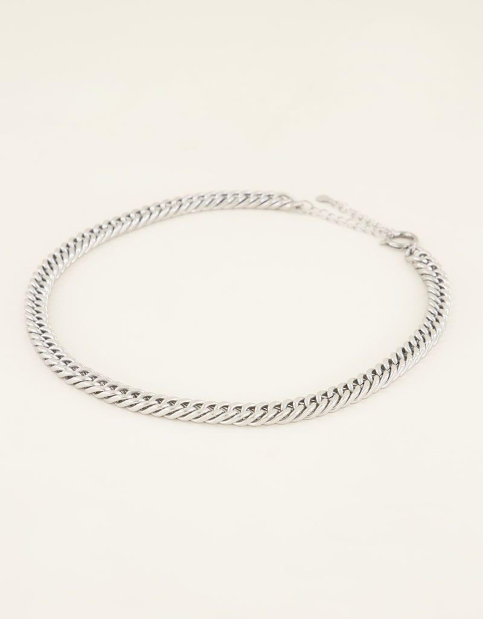 My Jewellery Schakelketting met ronde sluiting zilver