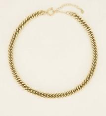 My Jewellery Schakelketting met ronde sluiting goud