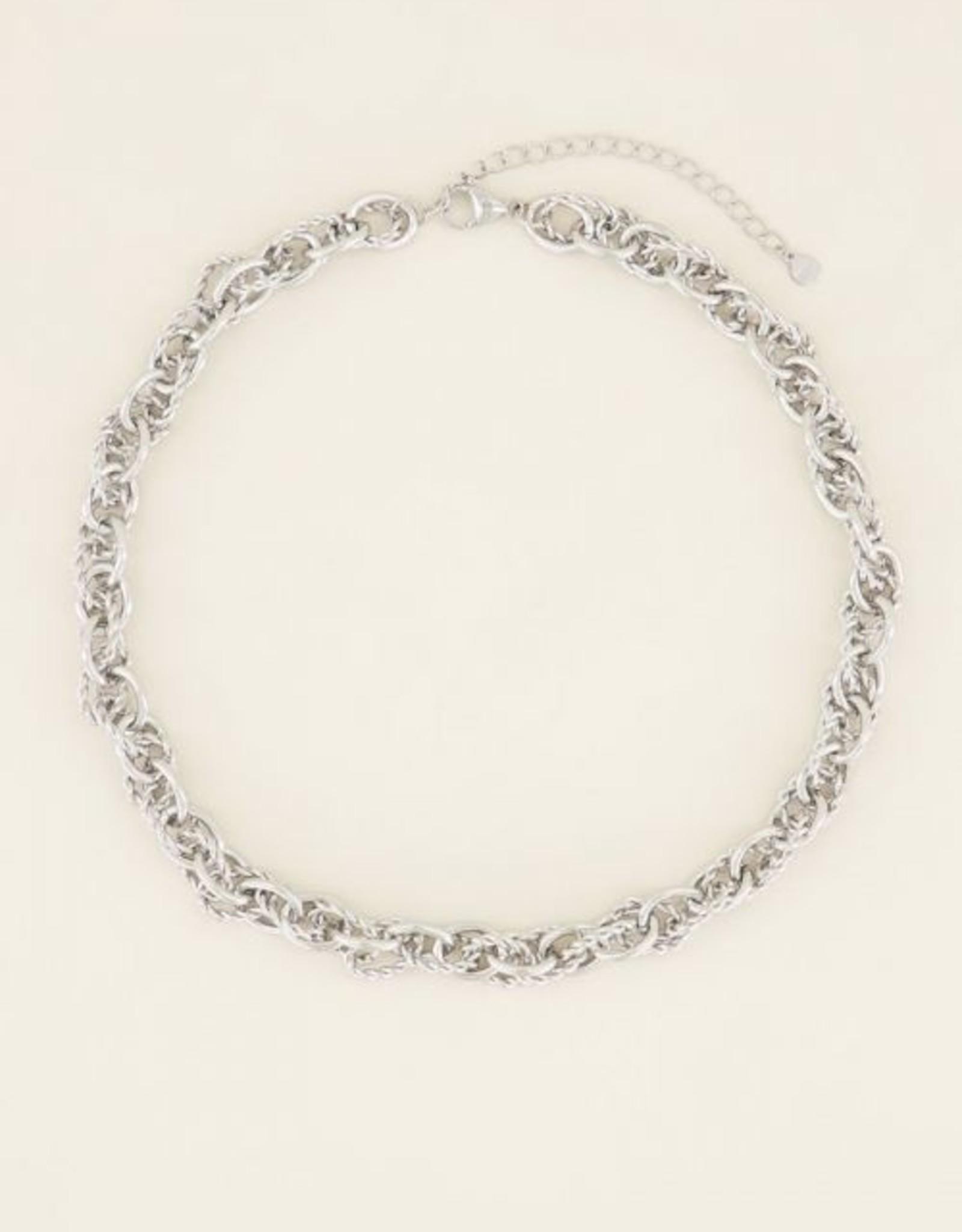 My Jewellery Ketting verschillende schakels zilver