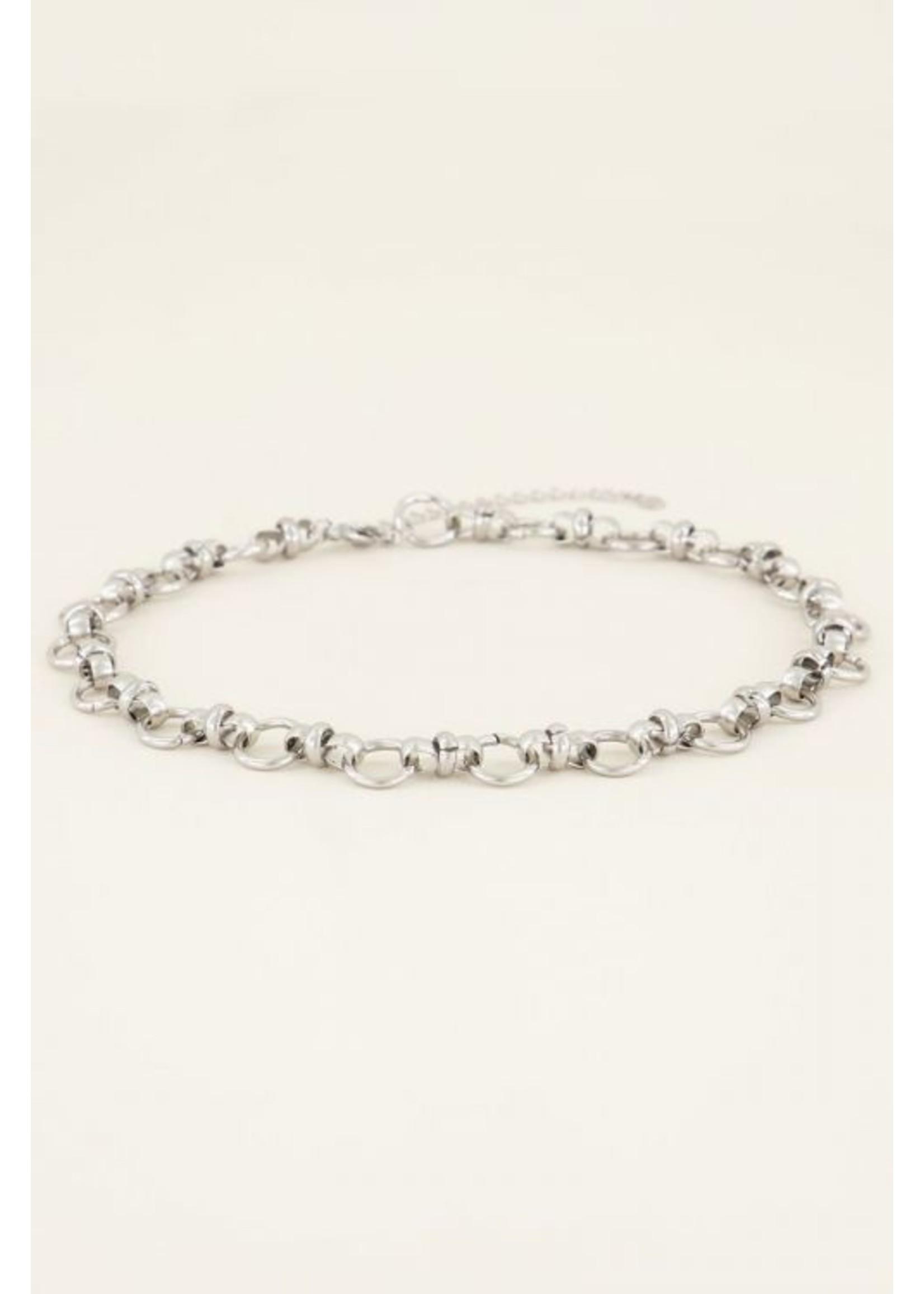 My Jewellery Ketting ronde schakels zilver