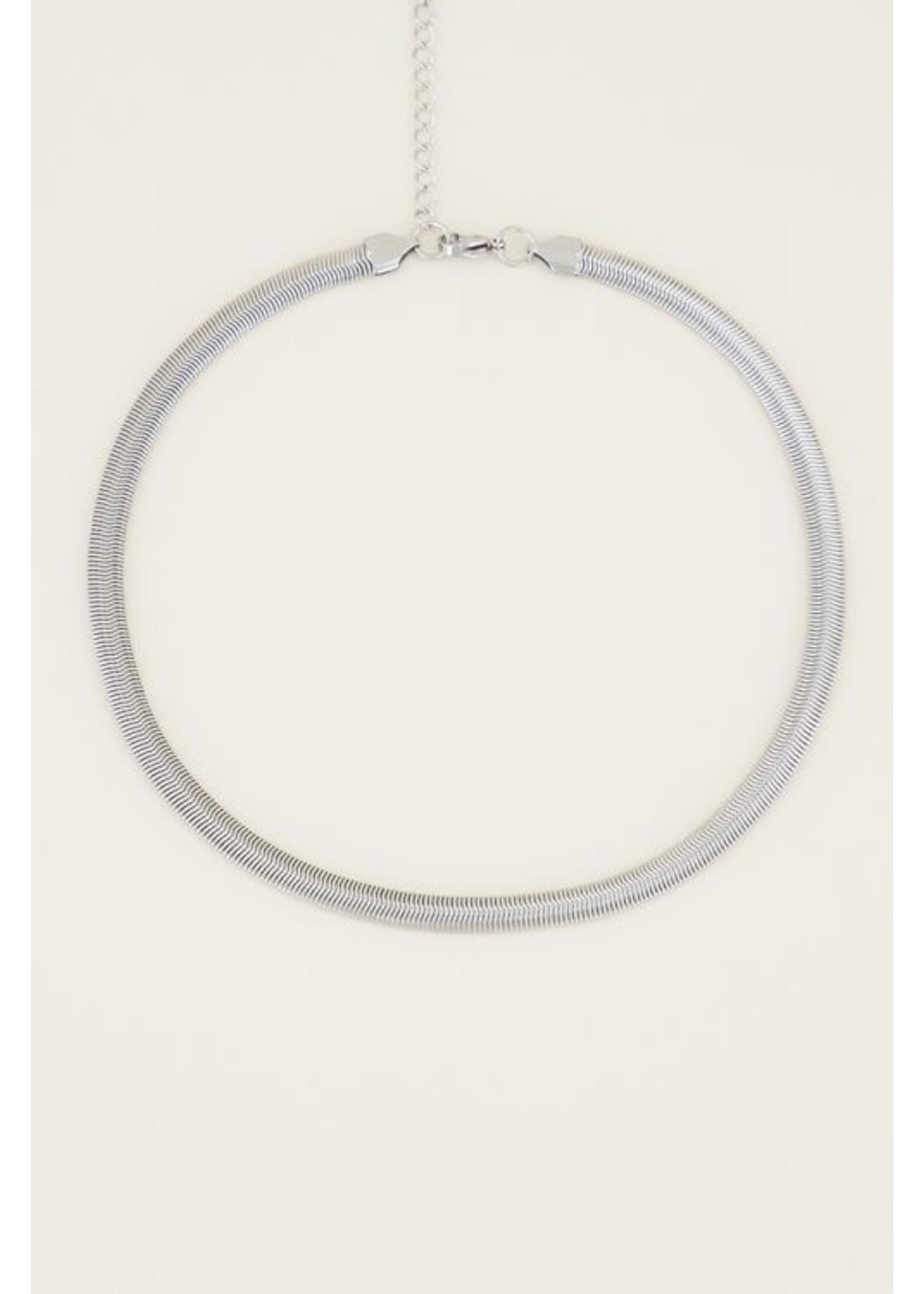 My Jewellery ketting met platte schakels zilver