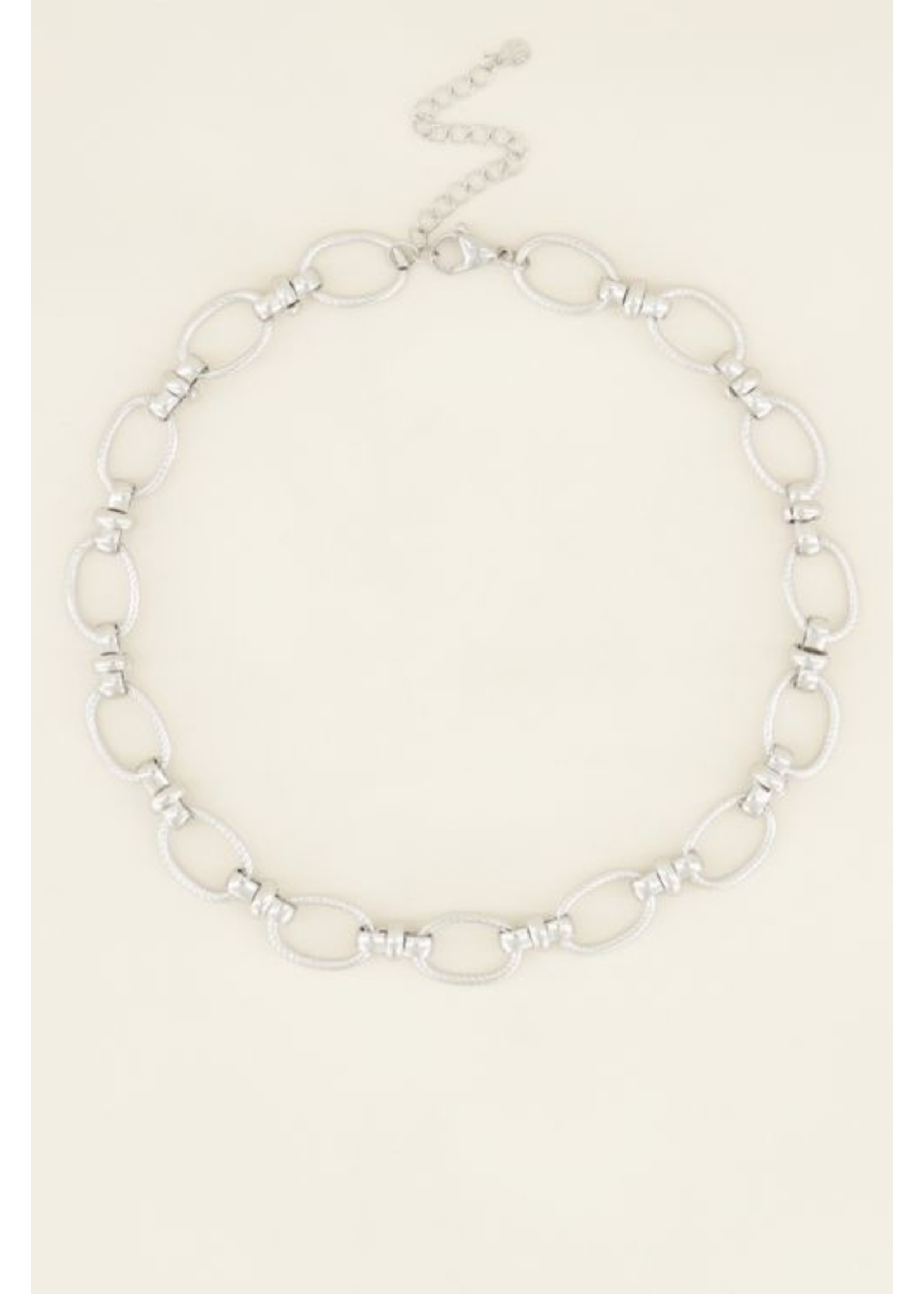 My Jewellery Ketting grove ovale schakels zilver