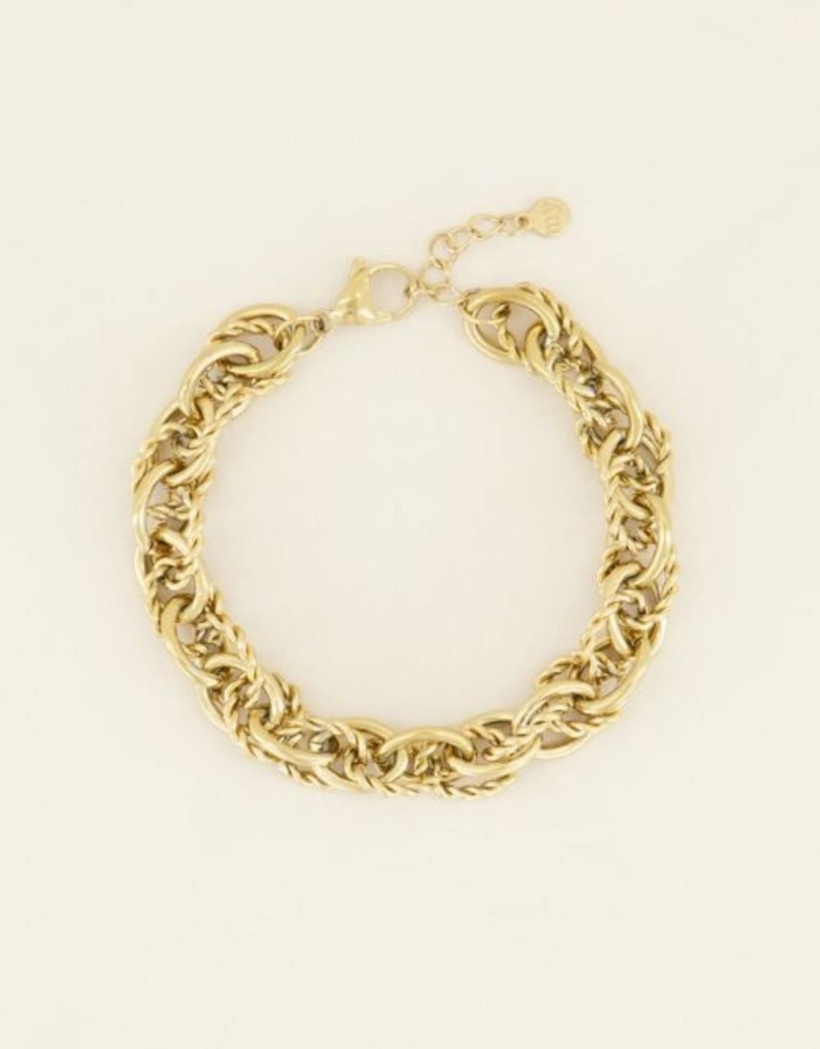 My Jewellery Armband verschillende schakels GOUD