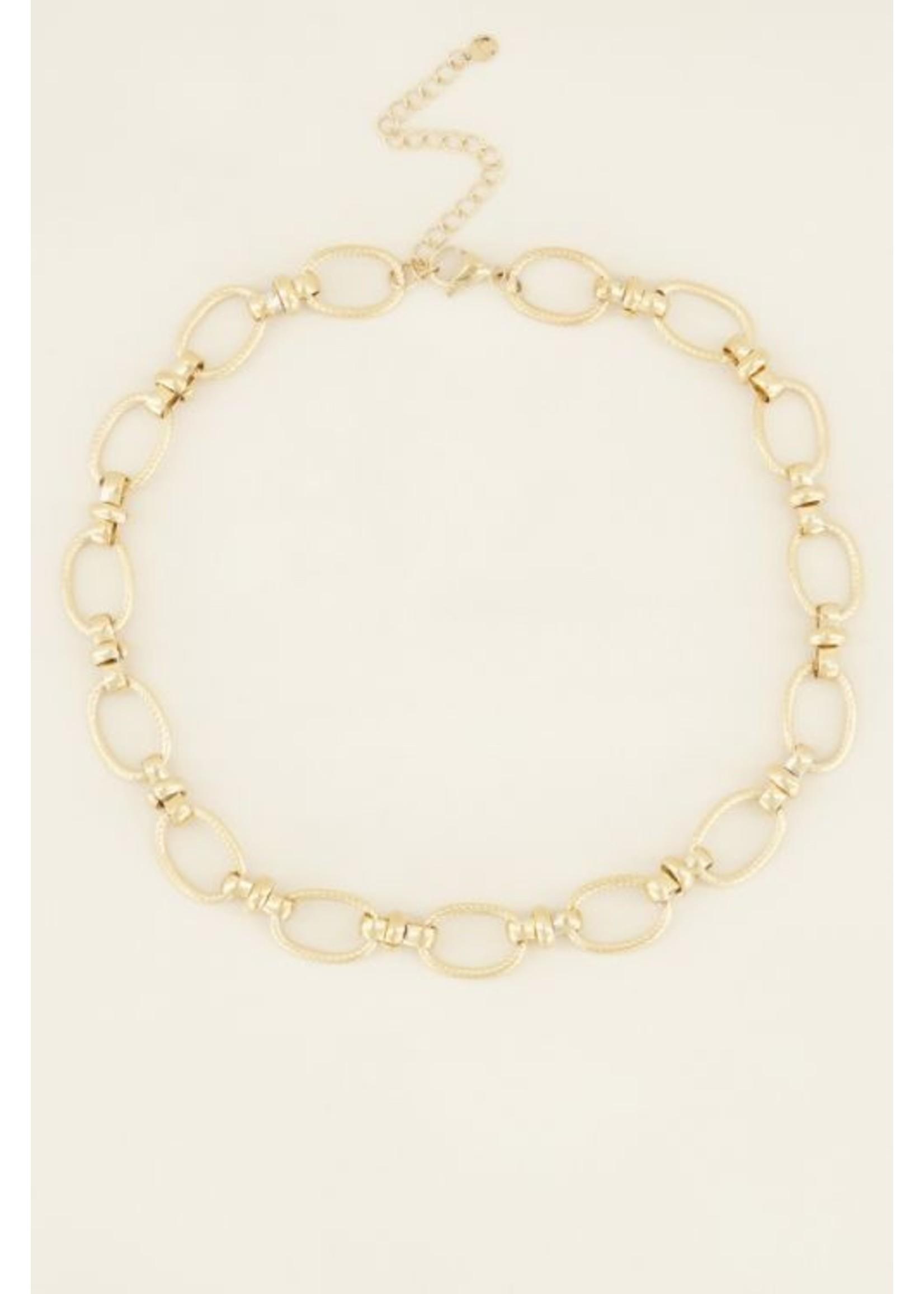 My Jewellery Ketting grove ovale schakels goud