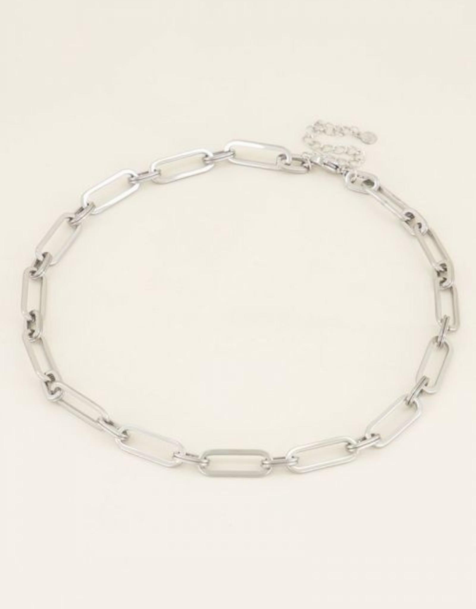 My Jewellery Ketting grote ovale schakels zilver