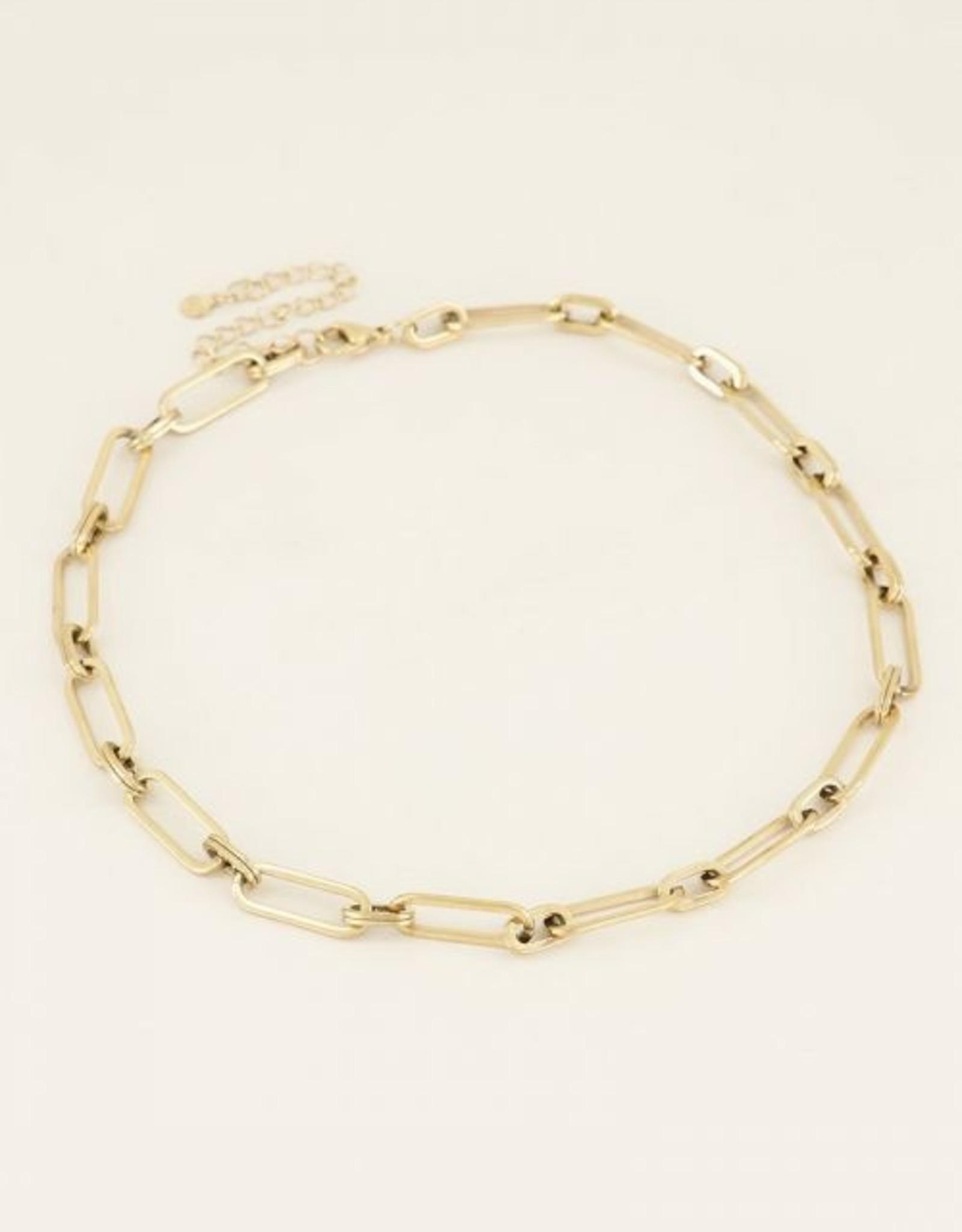 My Jewellery Ketting grote ovale schakels goud