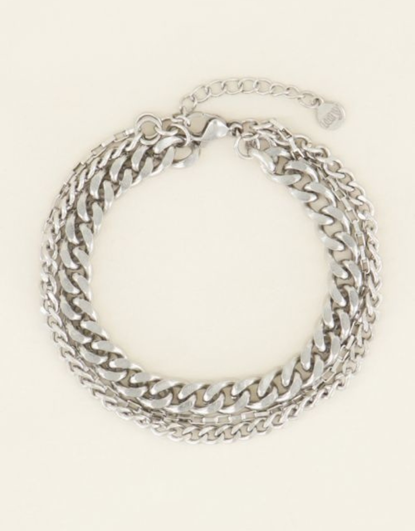 My Jewellery Driedubbele schakelarmband