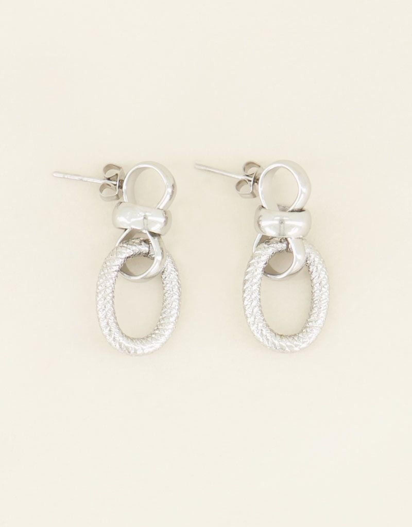 My Jewellery Ovale oorbellen met structuur