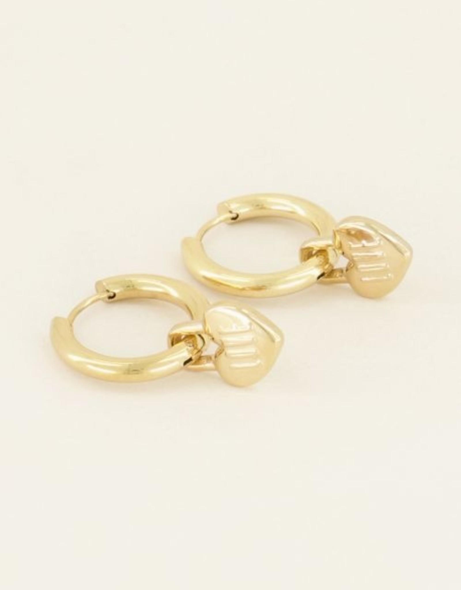 My Jewellery Oorringen love slotje